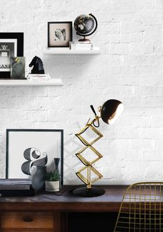 billy desk adjustable extendable functional reading industrial funny vintage lamp