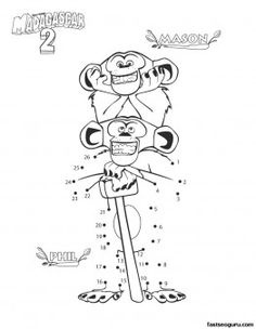 Printable madagascar 2 Mason and phil coloring page - Printable Coloring Pages For Kids