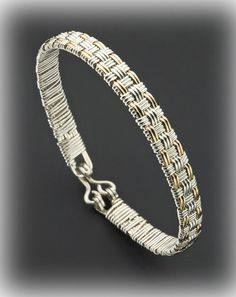 Woven Wire Bracelet. I could totally make this!