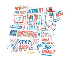 Editorial illustrations 11/12 on Behance