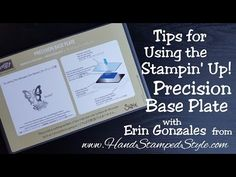 http://www.handstampedstyle.com - Check out these useful tips for your Stampin' Up! Precision Base Plate for your Big Shot. There are a few things that I tou...