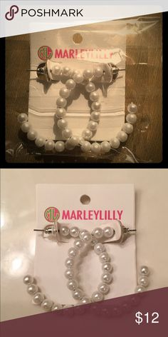 Pair of faux pearl earrings NWT Pair of Marleylilly faux pearl earrings never worn, new with tags. Marleylilly Jewelry Earrings