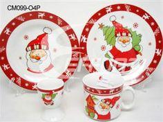 Porcelain Christmas Dinnerware Santa