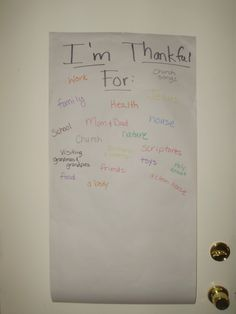 Thanksgiving FHE lesson for toddlers