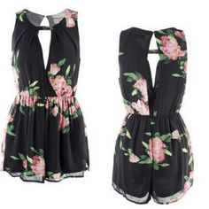 New Summer Women's elegant sexy floral print jumpsuits shorts backless Sleeveless Rompers casual beach Playsuit overalls Backless Jumpsuit, Floral Jumpsuit, Printed Jumpsuit, Floral Romper, Short Jumpsuit, Bodycon Dress, Cocktail Jumpsuit, Beach Playsuit, Dresses For Less