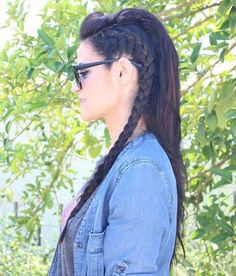 Loose+Braided+Faux-Hawk+Hairstyle