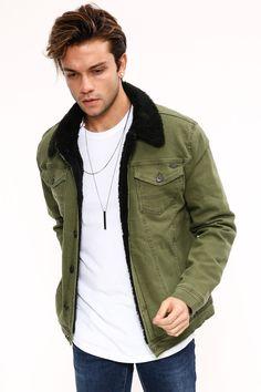 ae2d8332087db Kadın ve Erkek Giyim Online Alışveriş Sitesi sa. Kürk Siyah Yeşil Erkek Kot  Ceket