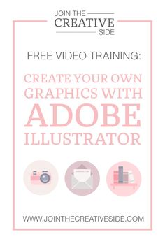 FREE WORKSHOP: How to design your own professional graphics with Adobe Illustrator! Learn how to design your own graphics using Adobe Illustrator with this step by step workshop!