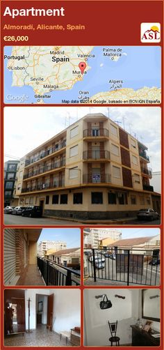 Apartment for Sale in Almoradí, Alicante, Spain with 3 bedrooms, 1 bathroom - A Spanish Life Apartments For Sale, Valencia, Independent Kitchen, Portugal, Alicante Spain, Living Area, Maine, Spanish, Palmas