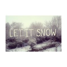 let it snow. ❤ liked on Polyvore