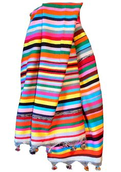 large, handmade wool blanket with multicolored stripes offered by shoppe by amber interiors Cute Blankets, Large Blankets, Textiles, Amber Interiors, Vintage Pillows, Colours, Brighton, My Style, Fabric