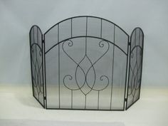 Black Metal Mesh Fireplace Screen Scroll Design by eHomeProducts, http://www.amazon.com/dp/B008CU6680/ref=cm_sw_r_pi_dp_nlKtsb1EQAKBM