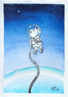 Astronaut bunny by mireiamoon on DeviantArt Astronaut Drawing, Astronaut Illustration, Astronaut Tattoo, Rabbit Illustration, Bunny Drawing, Bunny Art, Space Painting, Sketch Painting, Logo Gato
