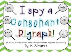 Enjoy this collection of hands-on digraph activities! Digraphs represented in this resource are sh, th, ch, tch, wh and ck. Many tasks are differentiated for various learners. You will also find detailed descriptions to each activity in the packet. Consonant Digraphs, Prefixes And Suffixes, Root Words, Primary Teaching, Teaching Language Arts, Word Study, Daily 5, Literacy Activities, Future Classroom
