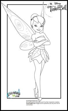 Printable Disney Tinkerbell Coloring Pages