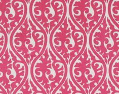 Hot Pink Fabric by the Yard yardage Premier Prints Kimono Candy Pink cotton upholstery home decor fabric   - 1 yard or more - SHIPS FAST