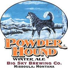 Powder Hound Winter Ale - big sky brewing - missoula