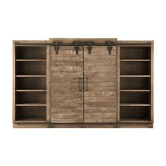 "Baumann 142"" Media Wall Unit In Ashland Natural"