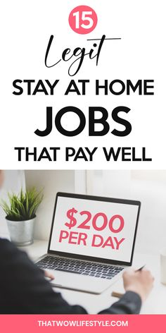 Here's a list of the best legit and easy stay at home jobs that pay well in If you're looking to make extra money with real online home jobs, check this out. These easy work from home jobs for moms, teens, men and you can do these jobs at home, worldwide. Online Jobs For Teens, Best Online Jobs, Online Jobs From Home, Earn Money From Home, Stay At Home, Make Money Online, How To Make Money, Online Business Opportunities, Business Ideas
