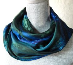 Hey, I found this really awesome Etsy listing at https://www.etsy.com/listing/66660959/silk-scarf-hand-dyed-in-forest-green-and