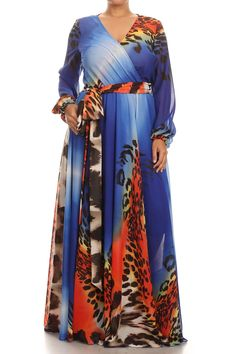 - Luxe up the seasona with this relaced fit print long sleeve maxi dress, Plus Size, Long Sleeve Maxi, Maxi Dress With Sleeves, Maxi Dresses, Long African Dresses, Plus Size Formal, Kimono Top, Stylish, Fit, Clothes