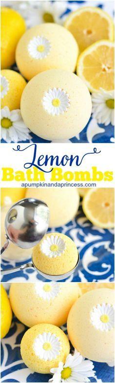 HomeMade Bath Recipes ~ DIY Lemon Bath Bombs