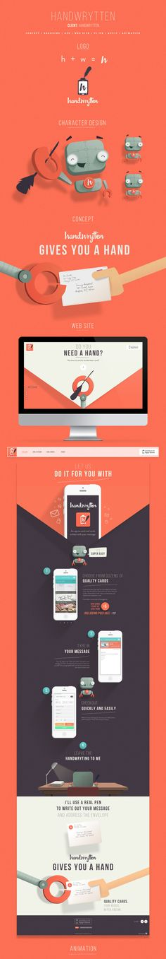 Handywrytten identity and web by Fixed. I'm in awe with how gorgeous their work is.