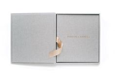 Custom Hand Made Linen Wedding Photo Album and Book with Solid Case by M&J Photography