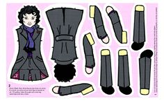 LARGE Sherlock Doll for Heavy Twill fabric by marchhare on Spoonflower - custom fabric  ON SALE NOW!  YOU KNOW YOU NEED THIS!