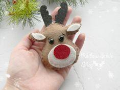 Fieltro a Navidad adornos fieltro renos adornos Rudolph el
