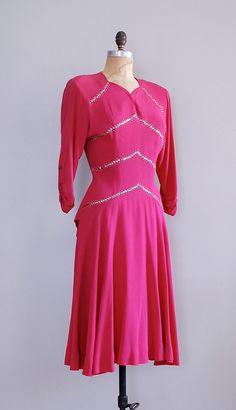 1940s dress / 40s dress / Sing Victorious by DearGolden
