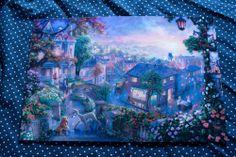 Thomas Kinkade Disney Lady and The Tramp 8x12 Print | eBay $35