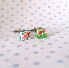 Miniature Food Jello Cufflinks by qminishop on Etsy