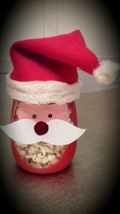 Bricolage de Noël : père Noël pop corn. - Un monde meilleur