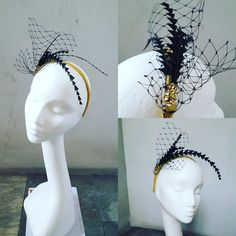 Excited to share the latest addition to my #etsy shop: Gold and Black Unique Fascinator Veiling Feathers Glitter Paillettes Cocktail Hat Christmas Xmas Gift for Her - Burlesque Fascinator JCN http://etsy.me/2iuiqMS #bathandbeauty #black #newyears #gold #newyearseve #eveninghat