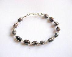 Perle naturale si sarma argintata nontarnish, bratara femei - idei cadouri femei Bracelets, Silver, Jewelry, Fashion, Green, Moda, Jewlery, Jewerly, Fashion Styles