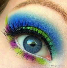 colorful doll or pretty clown makeup halloween