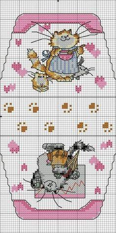 Pink cat with kittens. No color chart. сумочка-игольница схемы: 6 тыс изображений найдено в Яндекс.Картинках