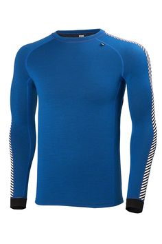 Helly Hansen Mens Warm Ice Baselayer Crew Top: Indie Blue