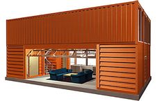 Cabin made of recycled container!  Maybe one day...