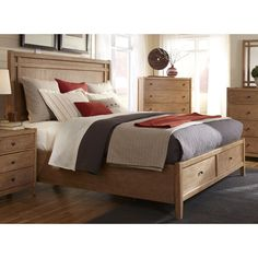 Natural Elements Queen Panel Storage Bed ONLY