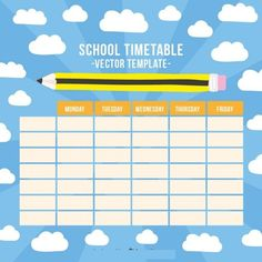 School Time Table Format In Excel Free Download | Timetable ...