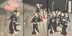 Chiyoda Castle (Album of Women) Toyohara Chikanobu (Japanese, Period: Meiji period Date: 1895 Culture: Japan Medium: Triptych of polychrome woodblock prints; ink and color on paper Japanese History, Japanese Culture, Japanese Prints, Japanese Art, Japanese Folklore, Japanese Sword, Retro Tattoos, Japanese Aesthetic, Korean Art