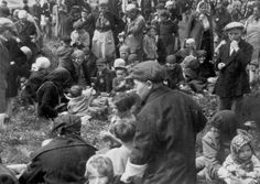 Birkenau, Poland, Jews spending their last minutes with their families while waiting to be exterminated, 05/1944.