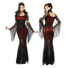 Cheap vampire costume women, Buy Quality vampire costume directly from China cosplay costume Suppliers: Gothic Sexy Costume Halloween Dress Costume Sexy Witch Vampire Costume Women Masquerade Party Halloween Cosplay Costume 8836 Vampire Party Costume, Vampire Costume Women, Vampire Costumes, Vampire Dress, Witch Fancy Dress, Adult Fancy Dress, Halloween Dress, Halloween Cosplay, Halloween Costumes
