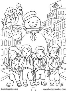 ghostbusters Colouring Pages