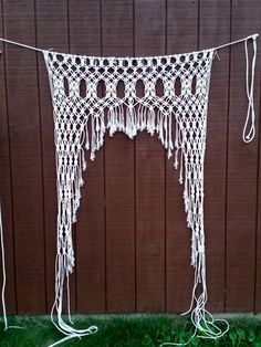 Handmade Macrame Curtain / Wedding Decor /  Check out this item in my Etsy shop https://www.etsy.com/listing/240325353/macrame-arch-wall-hanging-handmade