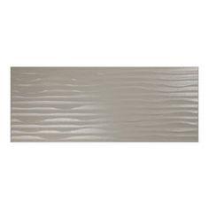 Mapisa Armonia Smoke Ribbed Tile   ◾ Usage Bathroom, Kitchen  ◾Tile Size: 504x202x8.5mm ◾Type: Glazed Ceramic  ◾Colour: Smoke Finish: Ribbed  ◾Suitable for: Wall  www.studiodesigns.co.uk