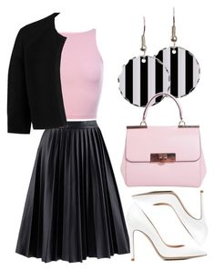 """50's"" by sarahmcmurryy on Polyvore featuring MICHAEL Michael Kors, Gianvito Rossi and HUGO"