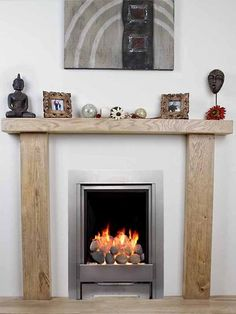 SOLID OAK BEAM FIRE SURROUND MANTELPIECE BESPOKE FIREPLACE | eBay